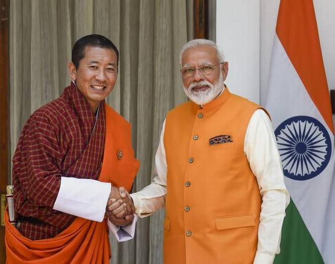 PM Narendra Modi with Lotay Tshering