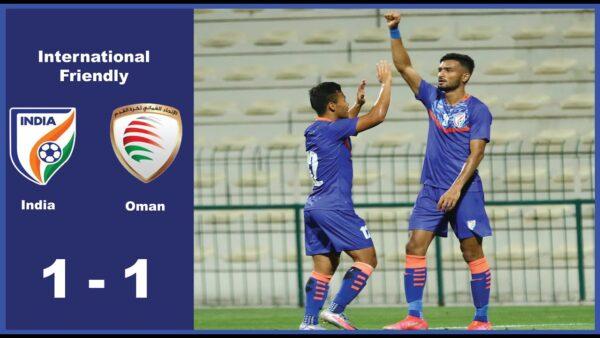 India vs Oman ends in 1-1