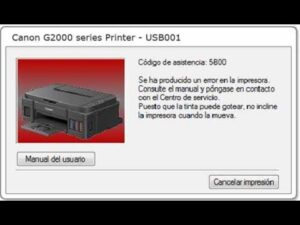 How to Fix 5B00 Error Canon G2000?