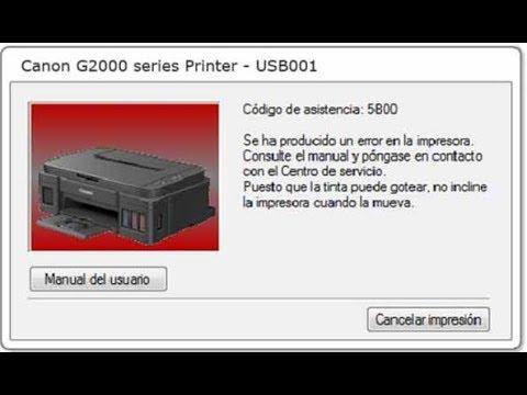 Fix 5B00 Error Canon G2000